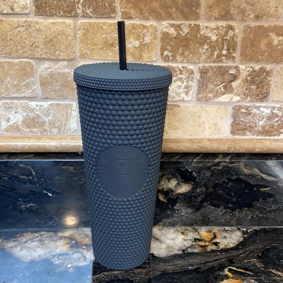 New Starbucks Matte Black Studded Tumbler